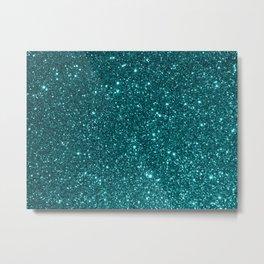 Ocean Glitter Metal Print