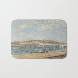 Alfred Sisley 1839 - 1899 THE WATERFRONT IN ST mammes Bath Mat