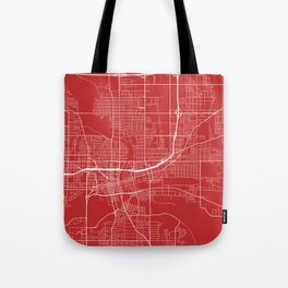Des Moines Map, USA - Red Tote Bag