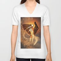 angel V-neck T-shirts featuring Angel by nicky2342