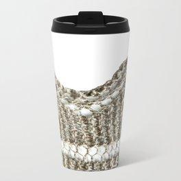 Knitted edging detail Metal Travel Mug