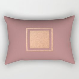 RoseGold: Minimalist + Pink Rectangular Pillow