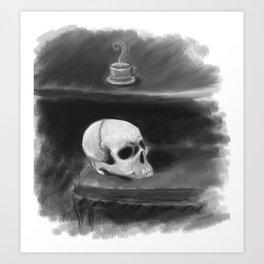 Tea with a friend Art Print