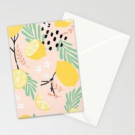 Lemon pattern 03 Stationery Cards