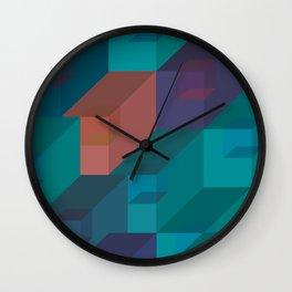 3d cubes pattern Wall Clock