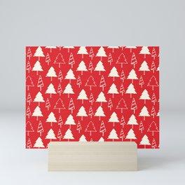Christmas Tree Red Mini Art Print