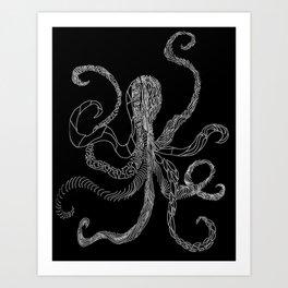 B&W Octo Art Print