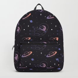 Astro sloth and planet sloth pattern Backpack