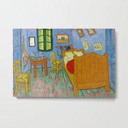 The Bedroom by Vincent Van Gogh Metal Print