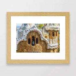 Gaudi Windows Framed Art Print
