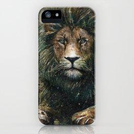 Lion background iPhone Case