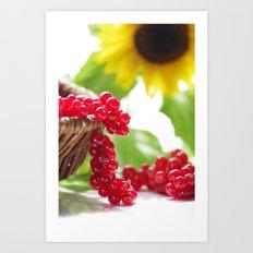 Red summer fruits image Art Print