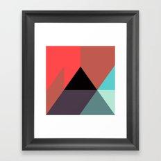 Black Triangle & Reds Framed Art Print
