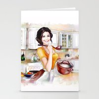 cook Stationery Cards featuring cook by tatiana-teni