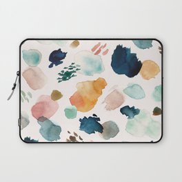 WILD WHIMS Abstract Watercolor Brush Strokes Laptop Sleeve