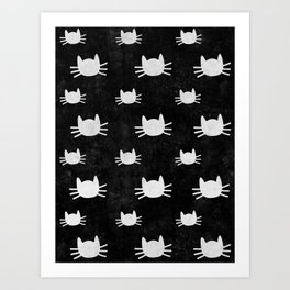 Kitties | Black Art Print