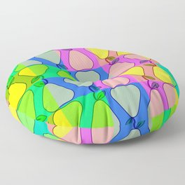 Colorful pears Floor Pillow