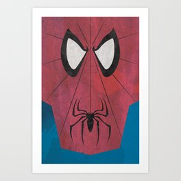 Minimal Spiderman Art Print