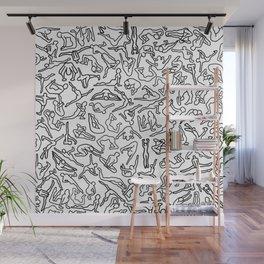 Bodies, Figures, Karate, Black White Wall Mural
