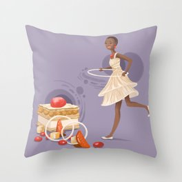 Blood Orange Millefeuille Throw Pillow