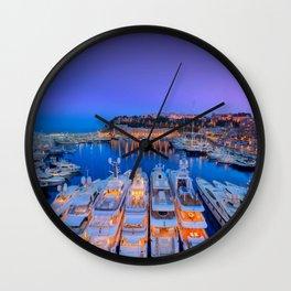 Monaco Yacht World Wall Clock