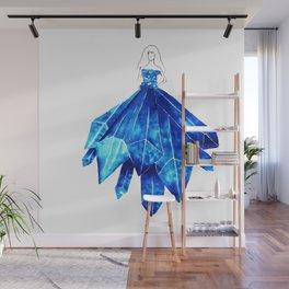 Light Blue Crystal Wall Mural