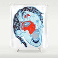 zombie Shower Curtains featuring Zombie by Jessica Slater Design & Illustration