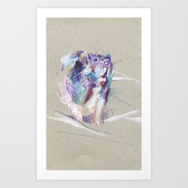 Purple rat Art Print