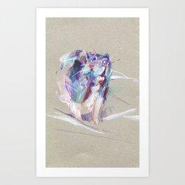 Purple rat Art Print