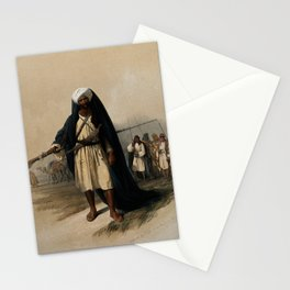 Vintage Print - The Holy Land, Vol 3 (1843) - Portrait of Besharah, of the Beni Said tribe Stationery Cards