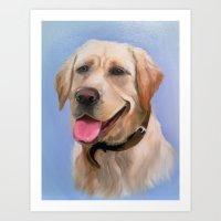 labrador Art Prints featuring Labrador by OLHADARCHUK