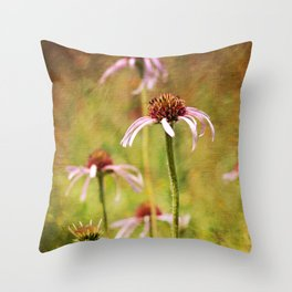 Cone Flowers in the Wild Throw Pillow
