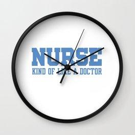 Nurses are Nice Wall Clock