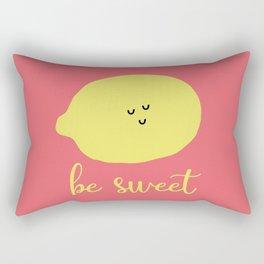 Ironic Lemon Says Be Sweet Rectangular Pillow