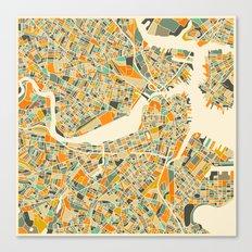 Boston Map Canvas Print