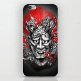 Hannya dragon mask iPhone Skin