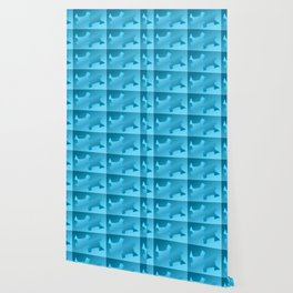 Pattern geometrical light blue 3d Wallpaper