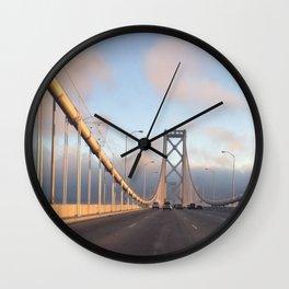 San Francisco Bay Bridge by sunset Wall Clock