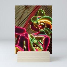 Cow girl Mini Art Print