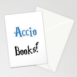 Accio books! (Blue) Stationery Cards