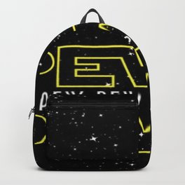 Pew Pew Stars Wars Backpack