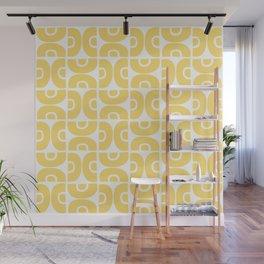 Groovy Mid Century Modern Pattern 731 Yellow Wall Mural
