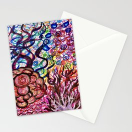 Underwater Rainbow Plants Stationery Cards