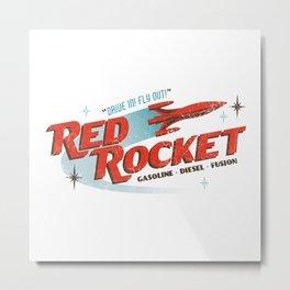 Red Rocket Metal Print