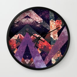 ROSES IN THE GALAXY Wall Clock