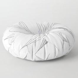 The Flower of my Heart Floor Pillow