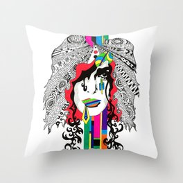 The Lost Woman Throw Pillow