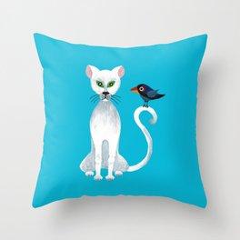 Bird on My Tail Throw Pillow