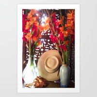 Still life with Hat  Art Print