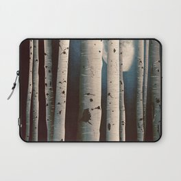 Birch wood at night Laptop Sleeve